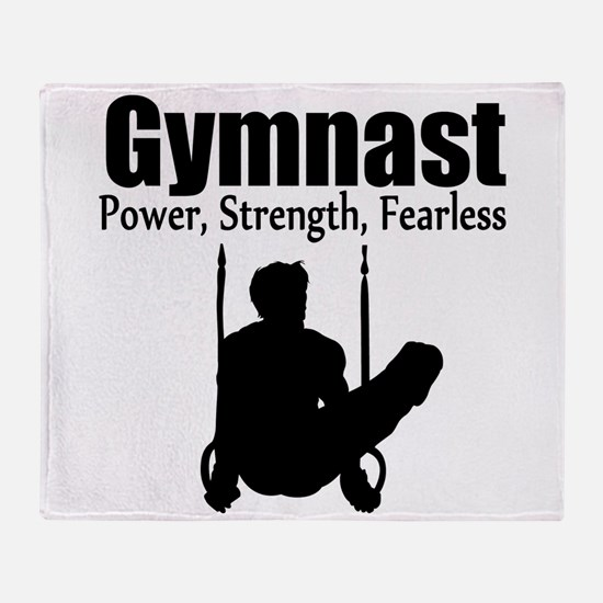 POWER GYMNAST Throw Blanket