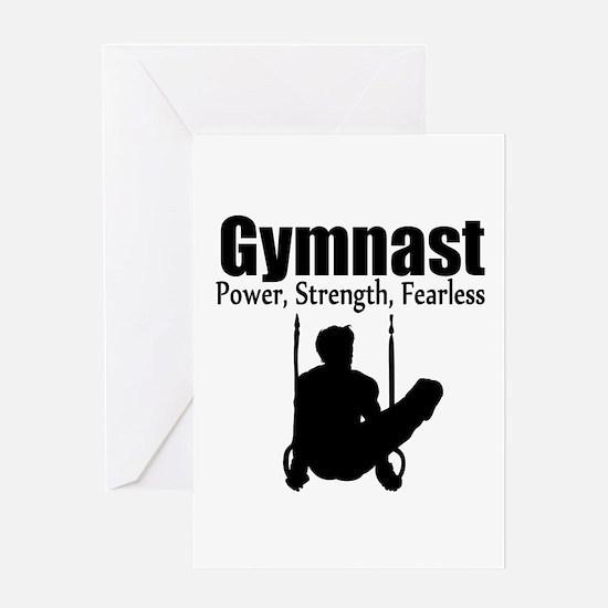 POWER GYMNAST Greeting Card