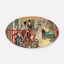 Carl Larsson artwork: A Day of Cel Oval Car Magnet