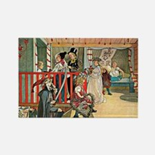 Carl Larsson artwork: A Day of Ce Rectangle Magnet