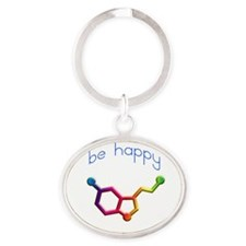 Serotonin Molecule Keychains