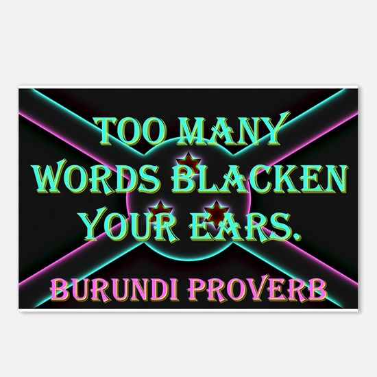 Too Many Words - Burundi Proverb Postcards (Packag