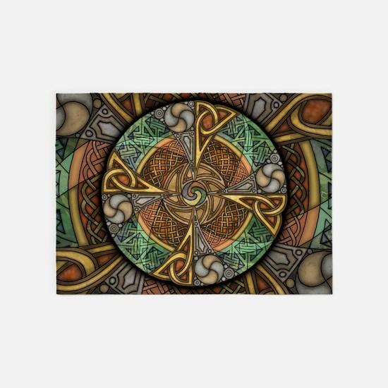Celtic Aperture Mandala 5'x7'Area Rug