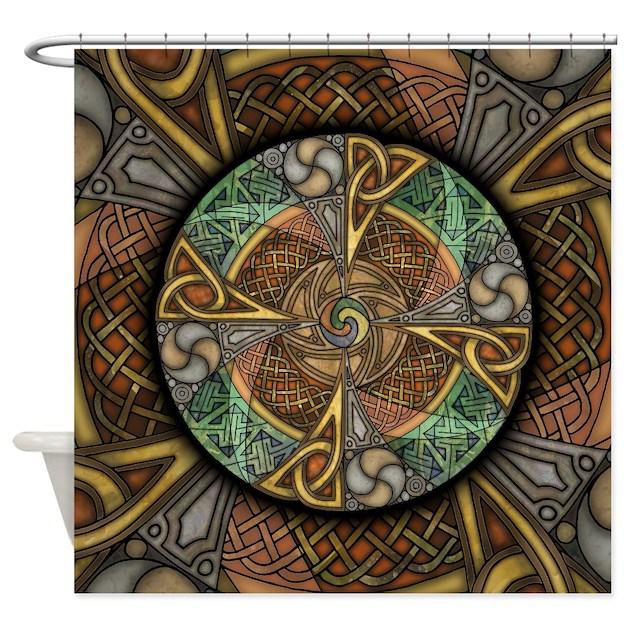 Celtic Aperture Mandala Shower Curtain By Artoffoxvox