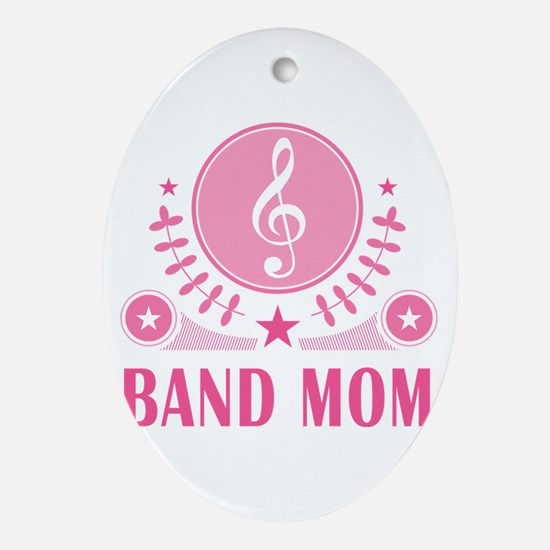 Band Mom vintage Ornament (Oval)