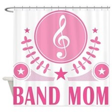 Band Mom vintage Shower Curtain