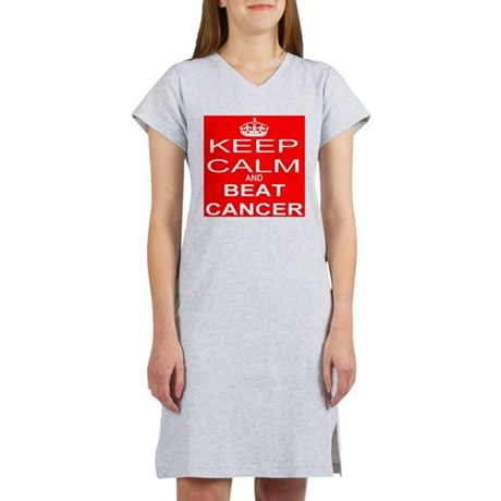 KEEP CALM and BEAT CANCER Women's Nightshirt