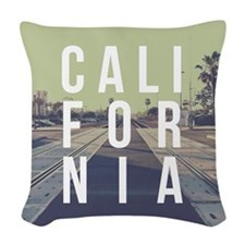 California Train Tracks Woven Throw Pillow