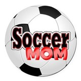 Soccer Round Car Magnets