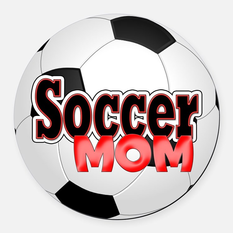 Soccer Mom Car Magnets Personalized Soccer Mom Magnetic Signs For - Custom soccer ball car magnets