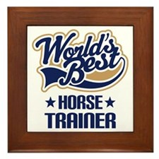Horse Trainer (Worlds Best) Framed Tile