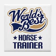 Horse Trainer (Worlds Best) Tile Coaster