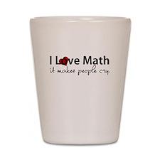 I Love Math Shot Glass