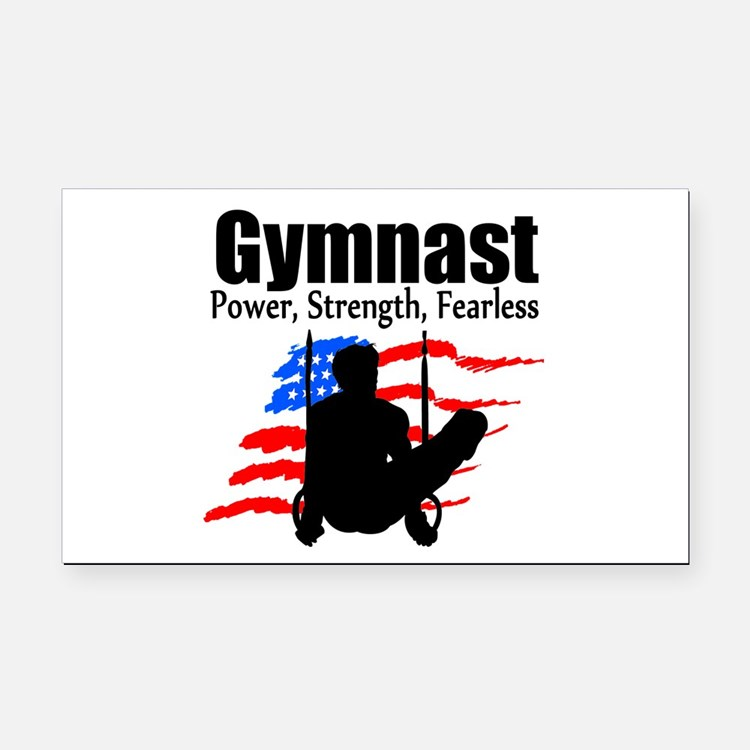 CHAMPION GYMNAST Rectangle Car Magnet