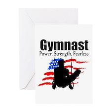 CHAMPION GYMNAST Greeting Card