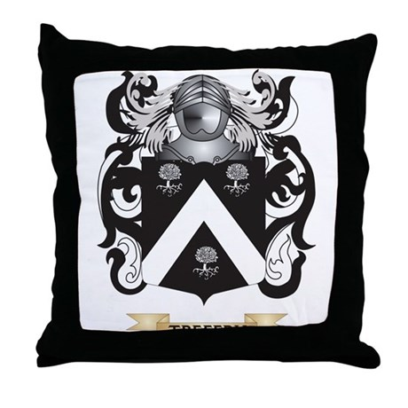 Treffry Family Crest (Coat of Arms) Throw Pillow by ...
