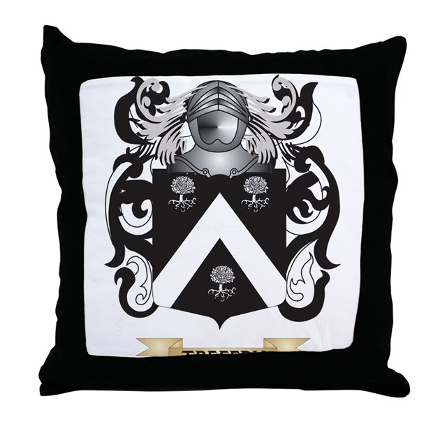 Treffry Family Crest Coat Of Arms Throw Pillow By