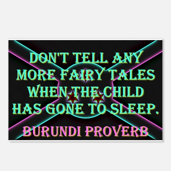 Dont Tell Any More - Burundi Proverb Postcards (Pa