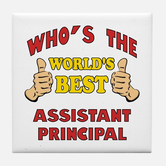 World's Best Assistant Principal (Thumbs Up) Tile