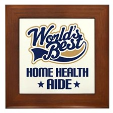 Home Health AIDE (Worlds Best) Framed Tile
