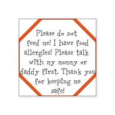Food Allergy Alert Sticker