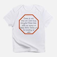 Food Allergy Alert Infant T-Shirt
