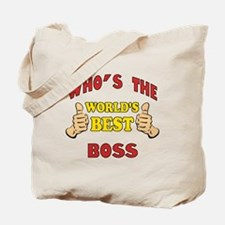 World's Best Boss (Thumbs Up) Tote Bag