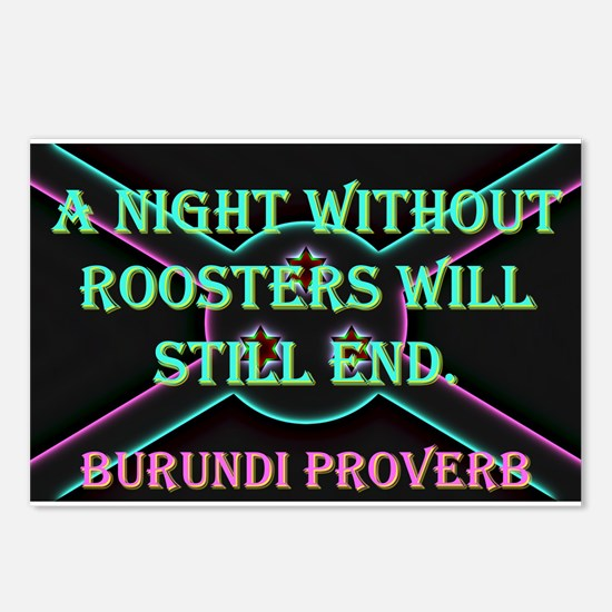 A Night Without Roosters - Burundi Proverb Postcar