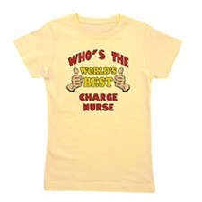 World's Best Charge Nurse (Thumbs Up) Girl's Tee