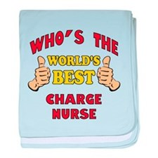 World's Best Charge Nurse (Thumbs Up) baby blanket