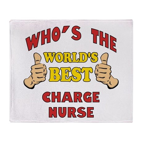 World's Best Charge Nurse (Thumbs Up) Throw Blanke