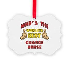 World's Best Charge Nurse (Thumbs Up) Ornament