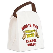 World's Best Charge Nurse (Thumbs Up) Canvas Lunch