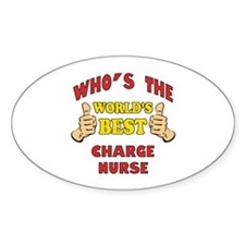 World's Best Charge Nurse (Thumbs Up) Decal