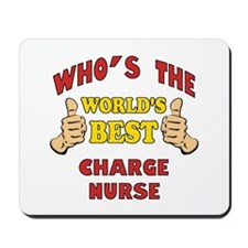World's Best Charge Nurse (Thumbs Up) Mousepad