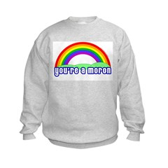 You're A Moron Rainbow Sweatshirt