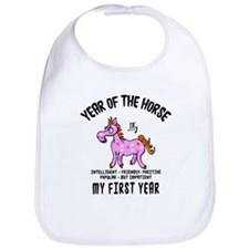 Born Year of The Horse Baby 2014 Bib