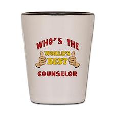 World's Best Counselor (Thumbs Up) Shot Glass