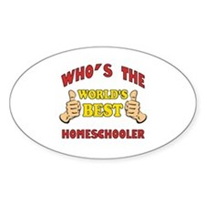 World's Best Homeschooler (Thumbs Up) Decal