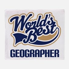 Geographer (Worlds Best) Throw Blanket