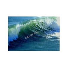 Catch the Wave Rectangle Magnet