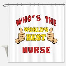 World's Best Nurse (Thumbs Up) Shower Curtain