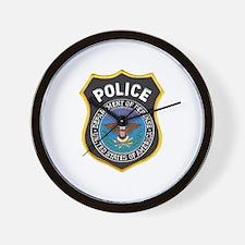 DOD Police Wall Clock