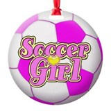 Girl soccer Ornaments
