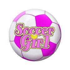 "Soccer Girl 3.5"" Button"