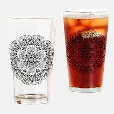 Mehndi Floral Design Drinking Glass