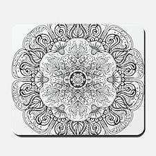 Mehndi Floral Design Mousepad