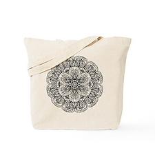 Mehndi Floral Design Tote Bag