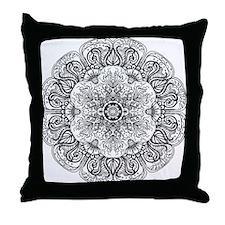 Mehndi Floral Design Throw Pillow
