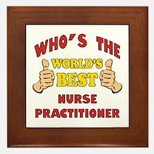 World's Best Nurse Practitioner (Thumbs Up) Framed